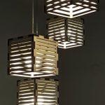 גופי תאורה מעוצבים - גופי תאורה תלויים - דגם פסי עץ רביעיה