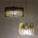 גופי תאורה מעוצבים - גוף תאורה תלוי מעץ