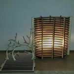 גופי תאורה מעוצבים - גוף תאורה שולחני מעץ - 13 על 26 על 28