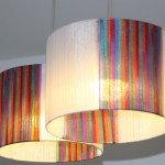 גופי תאורה מעוצבים - גופי תאורה תלויים- אהיל מלופף סרטי אורגנזה