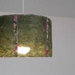 גופי תאורה מעוצבים-גוף תאורה תלוי-חומר טבעי עם סרטי בד