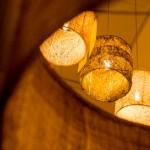 גופי תאורה מעוצבים-גופי תאורה תלויים-אשכול מחומר טבעי