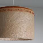 גופי תאורה מעוצבים-גופי תאורה תלויים-עשוי מחומר טבעי,סרט תחרה משולב בחרוזים